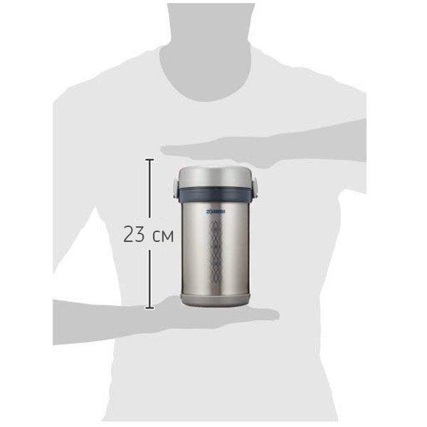 Термоконтейнер Zojirushi SL-NC09-ST 0,84 Л (стальной) размеры