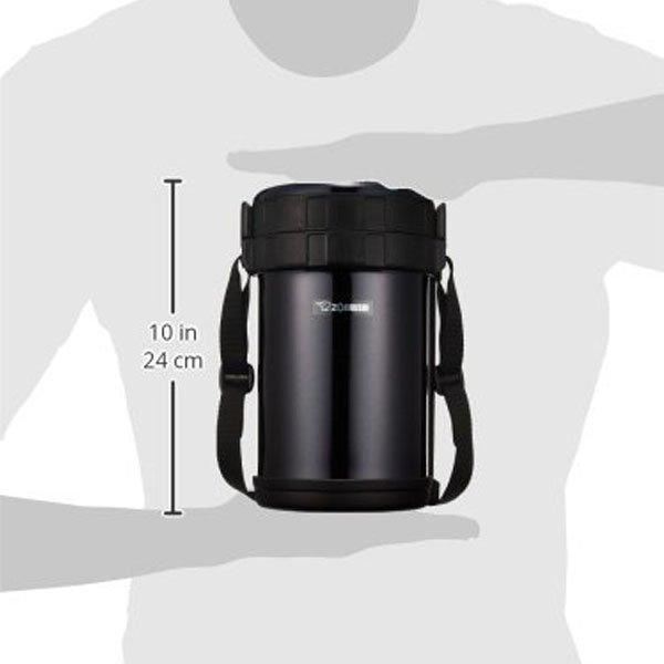 Термоконтейнер Zojirushi SL-XE20-AD 2,0 Л (черный) размер