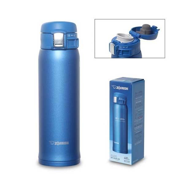 Термос-кружка Zojirushi SM-SD48-AM 0,48 л (голубой) упаковка